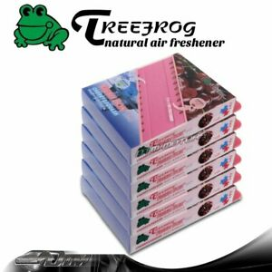 6x Treefrog Tree Frog Natural Xtreme Car Air Freshener 2 In 1 Cherry