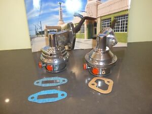 2 Chrome Cal Custom Fuel Pumps To Suit Ford 289 303 351w 302 And 351 Cleveland