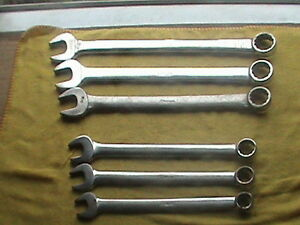 Snap On 6 Pieces Mixed Lot Combination Wrenches 12 Point Oex Goex