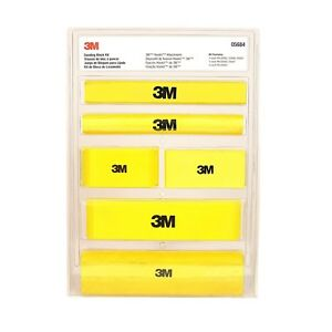 3m 05684 Hookit Sanding Block Kit For Auto Body Abrasives 6 Blocks