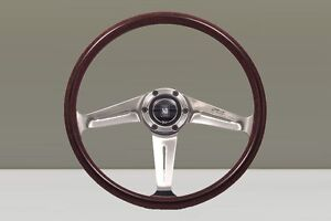 Nardi Nd 367 Classic Wood Steering Wheel Polished Spokes Horn Button 367mm