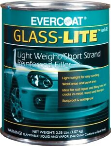 Fiberglass Evercoat 638 Glass lite Lightweight Body Filler quart