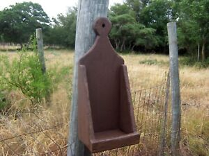 Primitive Rustic Sconce Country Shelf Wall Candle Mail Lollipop Box Holder Decor