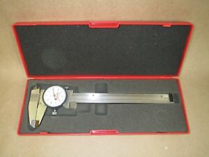 Starrett No 120a 6 Stainless Steel White Dial Caliper W Case Mint Condition