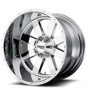 4pcs Off Road 18x9 Moto Metal Wheels Mo962 Chrome Rims