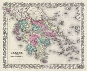 1856 Colton Map Of Greece