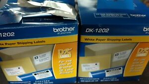 Brother Dk1202 White Shipping Labels Ql 800 Label Printers Lot Of 2 Boxes