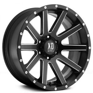 4pcs Off Road 18x9 Xd Wheels Xd818 Heist Black Milled Rims