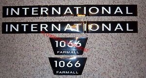 Fa606s New 1066 International Farmall Ih Tractor Hood Numbers Only Decal Set