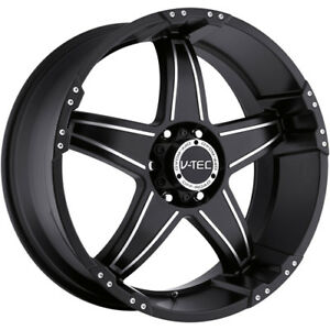 18x9 Black V tec Wizard 5x5 12 Wheels Nitto Trail Grappler 285 65 18
