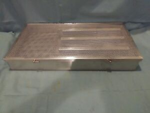 Unbranded Microsurgical Case 20 5 x11 x2 5 Perforated Md Vet Sterilization Lab