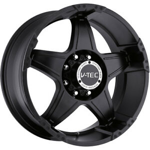 18x9 Matte Black V tec Wizard 6x135 12 Wheels Nitto Trail Grappler 285 65 18