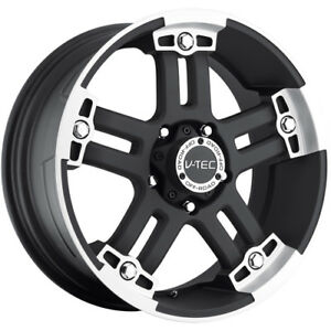 18x9 Black V tec Warlord 5x150 12 Rims Nitto Trail Grappler Lt285 65r18