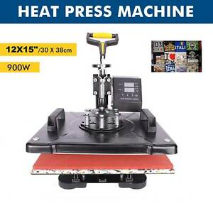 5 In 1 Combo T shirt Heat Press Machine Sublimation Swing Away 12 X 10