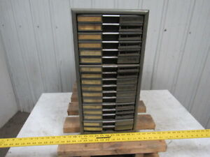 Vintage Parts Room 17 Drawer File Cabinet10 5 8 x 25 x 21 3 4 Tall