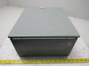Hoffman A 1412chftc 14x12x6 Hinged Door Electrical Enclosure Cabinet W backplate