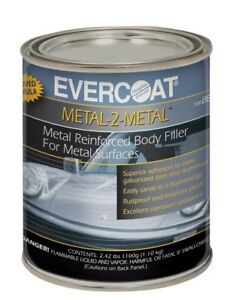 Evercoat 889 Metal 2 Metal Aluminum Reinforced Auto Body Filler Quart