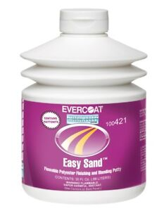 Evercoat 421 Easy Sand Flowable Polyester Finishing Putty 30 Fl Oz Pump Bottle