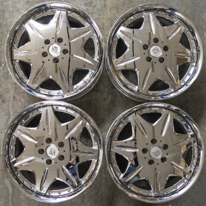 4 Pc Set 19 Work Ls207 Lsi Gt 909 5048 Jdm Wheels Rims Vip 19x8 50 Dish