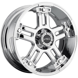 18x9 Chrome V tec Warlord 5x4 5 20 Rims Nitto Trail Grappler 285 65 18 Tires