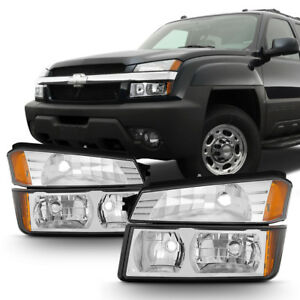 2002 2006 Chevy Avalanche Body Cladding Headlights Bumper Signal Lamps 02 06