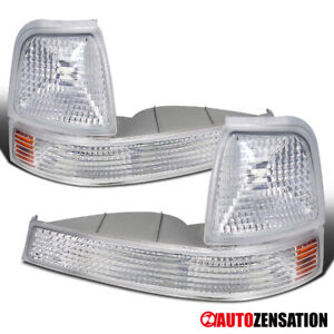 98 00 Ford Ranger Euro Chrome Clear Bumper Corner Signal Lights Pair