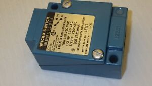 Microswitch Lzz21 Enclosed Precision Switch 10a 125 250vac Standard Dury Nnb