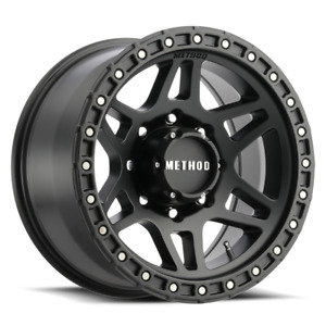 Set 4 17x8 5 0 8x165 1 8x6 5 Method Mr312 Black Wheels rims 17 Inch 59986