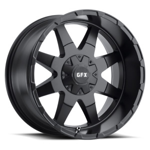 Set 4 17x9 12 6x135 Gfx Tr 12 Black Wheels Rims 17 Inch 59037