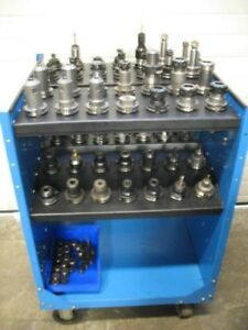 Cat 40 Tooling Package Cart 56 Holders Er 32 Er 16 Endmill Holders Hardinge