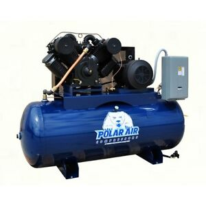 20 25 Hp 3 Phase 120 Gallon Horizontal Air Compressor By Eaton