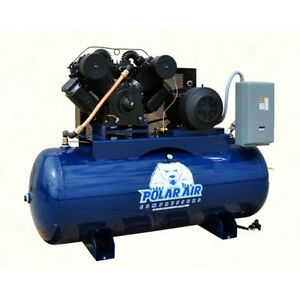 20 25 Hp 3 Phase 120 Gallon Horizontal Air Compressor