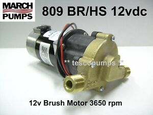 March 809 Br hs 12vdc Hot Water Pump Pn 0809 0101 0100