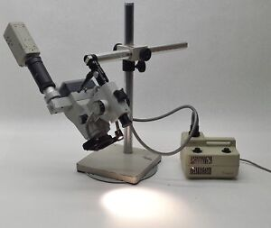 Zeiss Stemi Sv8 Stereo Zoom Lab Microscope sony Ssc s20 Camera light Source