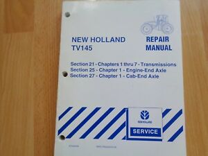 New Holland Tv145 Tractor Repair Manual Pto Cab End Engine End Oem