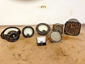 Vintage Variety Of Meters Milliampress Weston Simpson Dc Milliampress More