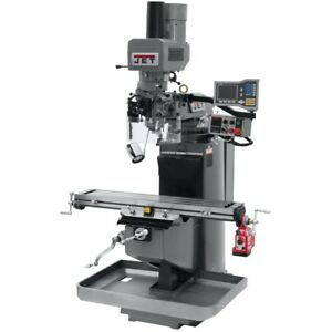 Jet 690516 Jtm 949evs Mill 3 axis Acu rite Vue Dro X axis Pwrfd