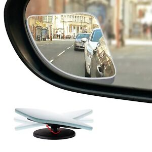 Hd Frameless Blind Spot Mirror Fan Shaped 2 5 Convex Glass Mirror Pack Of 2