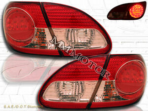 2003 2008 Toyota Corolla Red Clear Led Tail Lights 03 04 05 06 07 08