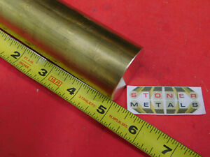 1 5 8 C360 Brass Round Rod 5 Long Solid H02 Lathe Bar Stock 1 625 Diameter