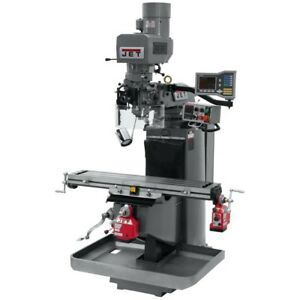 Jet 690512 Jtm 949evs Mill 3 axis Acu rite Vue Dro X Y axis Powerfeeds