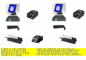 2 Computer Station Pos System Restaurant Bar Pizza Point Of Sale Ursa 921