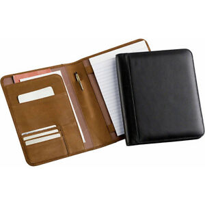 Enzodesign Leather Memo Pad Holder Junior Tan Business Accessorie New