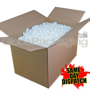 2 5 Cubic Foot Box Of Ecoflo Biodegradable Loose Void Fill Packing Peanuts