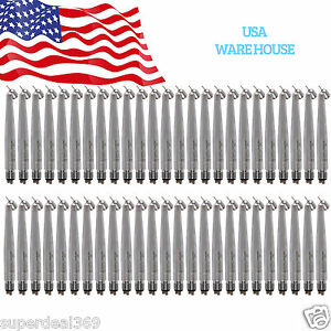 50 nsk Pana 45 Degree Dental High Speed Air Turbine Handpiece Push Spray 4h Usa