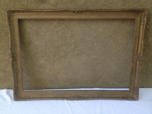 Antique Victorian Large Ornate Picture Frame Textured Finish
