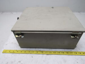 Hoffman A 1412ch 14x12x6 Hinged Door Electrical Enclosure Cabinet W backplate