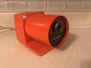 Vintage Panasonic Kp 22a Pana Point Mid century Orange Electric Pencil Sharpener