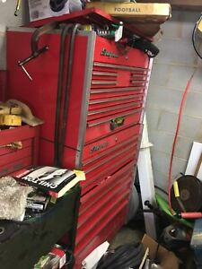 Vintage 1978 Snap On Tool Chest Top Chest Bottom Roll Chest No Tools Included