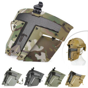 Tactical Airsoft SPT Steel Mesh Mask Sparta Tactical Mask Helmet Cover